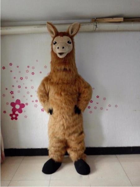 Professionelle benutzerdefinierte Lama Maskottchen Kostüm Anime Cartoon Kamel Charakter Kleidung Halloween Festival Party Kostüm
