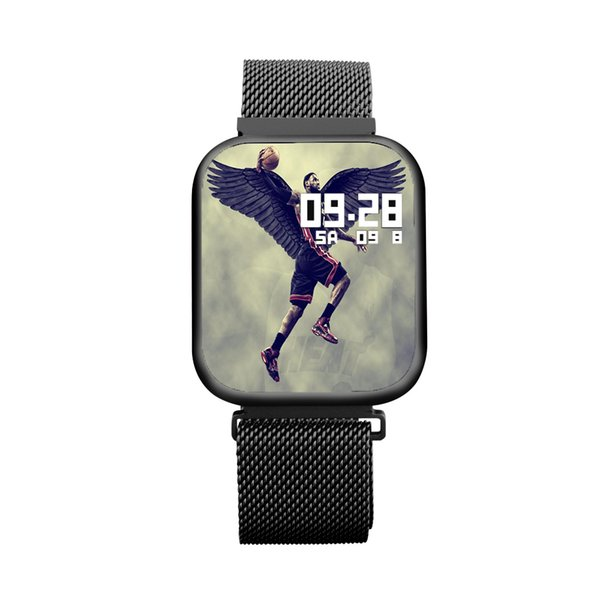 Nuevos relojes inteligentes Hombres mujeres Pantalla táctil completa Pulsera de fitness Monitoreo del ritmo cardíaco Bluetooth P80 smartwatch Band