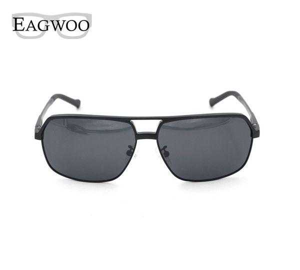Vintage Polarized Sunglasses Men Aluminium Magnesium Bouble Bridge Sunglasses Sun Glasses Anti Glare De Sol Masculin 8548