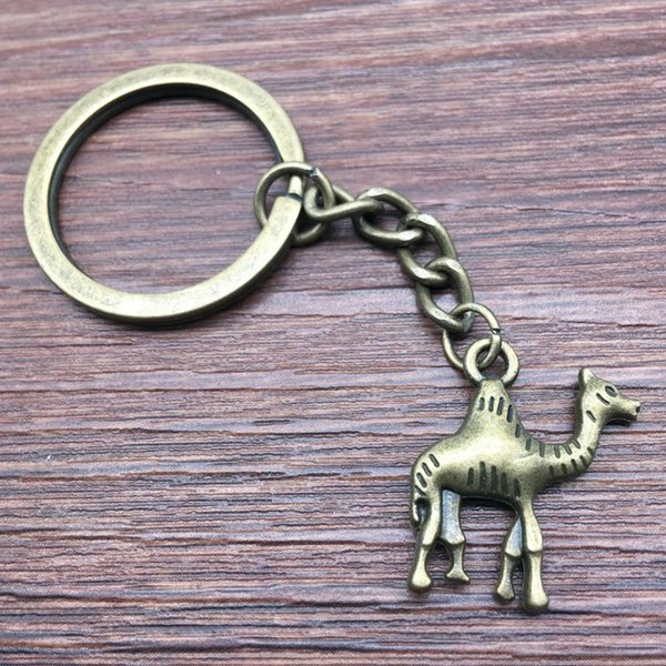 Keyring Camel Keychain 22x20mm Antique Bronze New Fashion Handmade Metal KeyChain Souvenir Gifts For Women