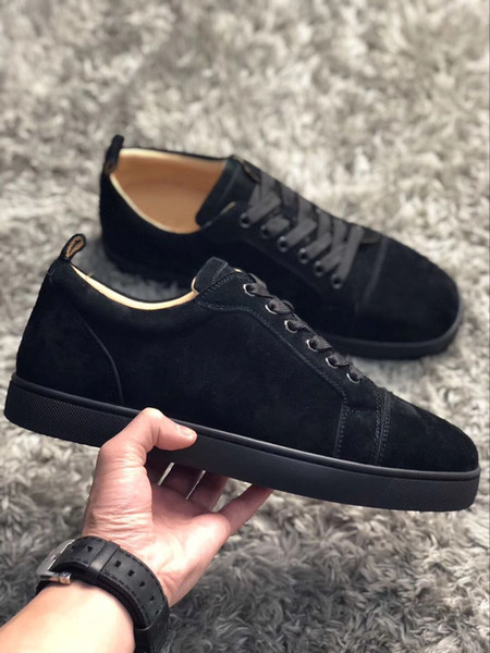 [With Box] 2019 Fashion Designer Casual Shoes Womens Mens Red Bottom Sneakers Hot Trendy Walking Trainers