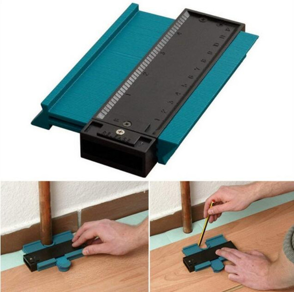 best selling Plastic Profile Copy Gauge Contour Gauge Duplicator Standard 5 inch Width Wood Marking Tool Tiling Laminate Tiles General Tools