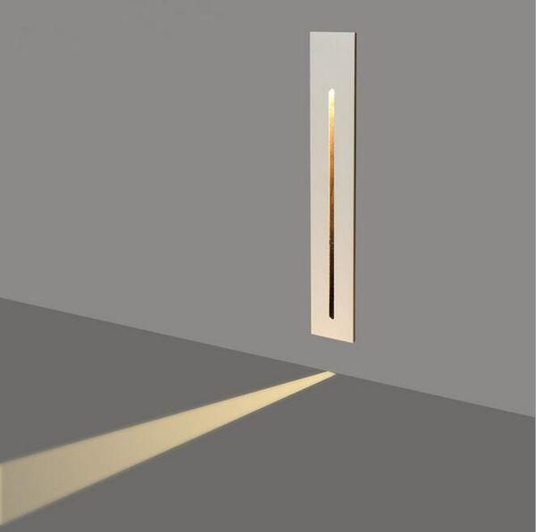 Acheter 3W Encastré Led Escalier Lumière AC85 265V Intérieur Coin Mur  Lumières Éclairage Étape Décoration Lampe Couloir Escalier Lampes Avec Puce  CREE ...