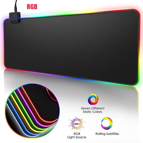 top popular 350*250mm RGB Gaming Mouse Pad Large Mouse Pad Gamer Led Computer Mousepad Big Mouse Mat with Backlight Carpet For keyboard Desk Mat Mause 2020