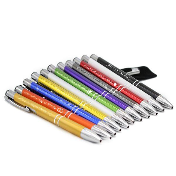 60*Персонализированные Гравированные Делюкс Металлические Ручки Бизнес Свадьба Подарок Сувениры Для Бизнеса С Логотипом Компании Имя Мешки Подгонянный Мешок