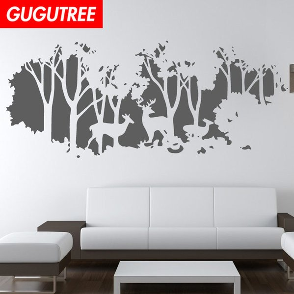 Decorate Home trees deer cartoon art wall sticker decoration Decals mural painting Removable Decor Wallpaper G-1692