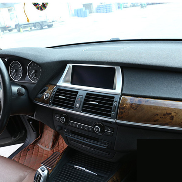 Mittelkonsole Navigationsrahmen Dekoration Abdeckung Zierleiste Für BMW X5 E70 X6 E71 2008-2014 ABS Autoinnenausstattung