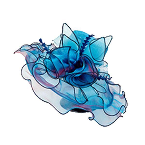 Verano Elegante Flor Sombreros para el sol Mujeres Floral Vintage Wide Wide Brim Wedding Natural Lady Party Hat 6 colores 2019
