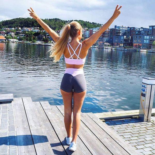Compressão elástica push up yoga shorts de corrida shorts mulheres ginásio curto slim fit fitness workout activewear