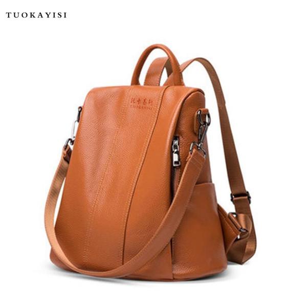 Women Backpacks School Backpack Bag Backpack small Soft leather female shoulder bag Girl Chest bag travel backpack design Ruck #193219