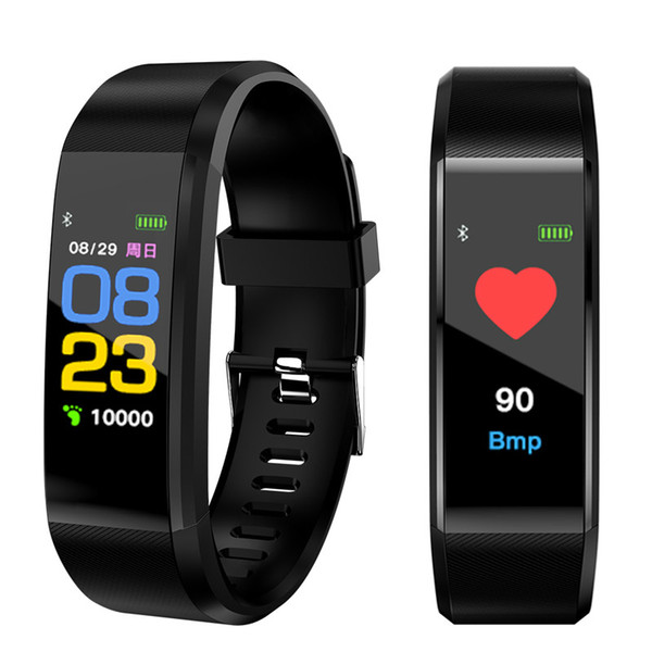En gros Nouvelle montre intelligente Hommes Femmes Moniteur de fréquence cardiaque Pression artérielle Fitness Tracker Montre Smartwatch Sport pour ios android + BOX