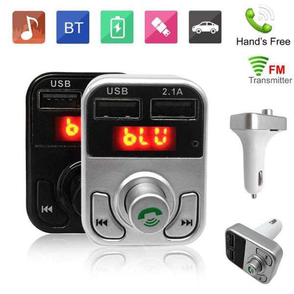 B3 Transmetteur FM Kit voiture sans fil Bluetooth Kit voiture B2 Lecteur MP3 Lecteur de musique LED Double USB 2.1A Chargeur de voiture Affichage de la fréquence Support Carte TF