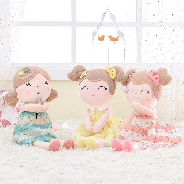INS 3 Colors Gloveleya Plush Dolls Spring Girl Baby Doll Gifts Cloth Dolls Kids Rag Doll Plush Toys Kawaii