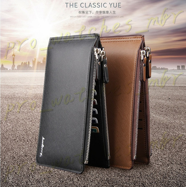 45035e3ffca7 Fashion Large Capacity Card Holders Men Leather Wallet Bifold Money Purse  Male Cash Coin Pocket H0047-1