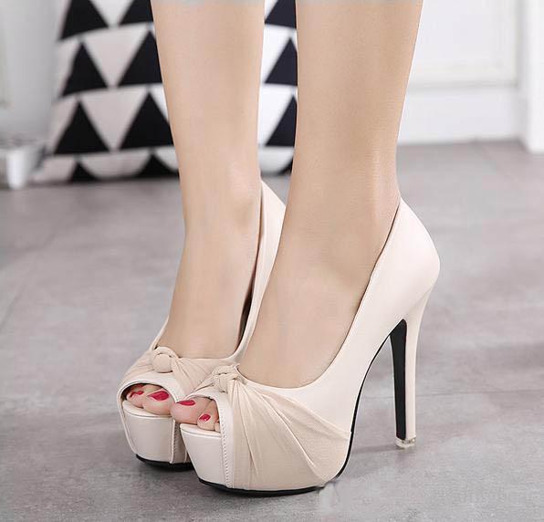 Luxury avorio bianco glitter scarpe da sposa sandali eleganti scarpe da sposa pompe piattaforma tacchi alti spessi 2019 dimensioni 35-39