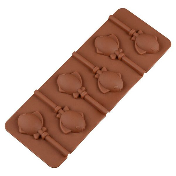 24.5*9.5CM DIY 6 Fish Shaped Moulds Silicone Biscuit Cake Chocolate Mould Kitchen Baking Moulds 20 Pieces DHL