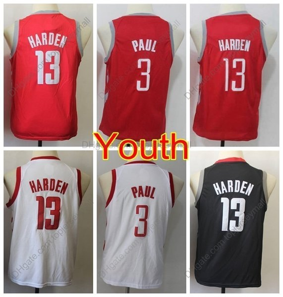 the latest 21efb 671b6 2019 2019 Kids #13 Chris Paul James Harden Jersey Youth Boys Basketball  Jerseys Youth Chris Paul Boys James Harden Top Quality Stitched S XL From  ...