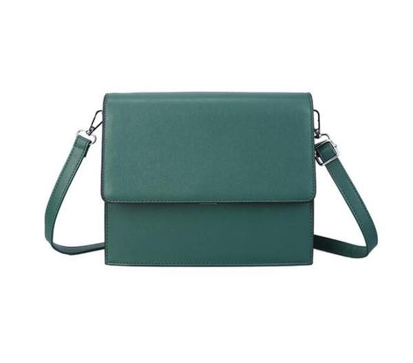 2019 spring new simple stereotypes women's bag Korean fashion wide shoulder strap organ wild shoulder bag free shipping#002