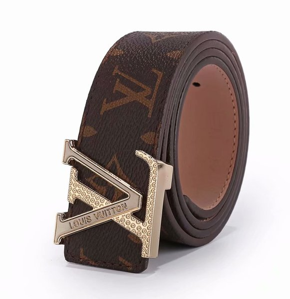 Latest classic leather belt boy trend fashionable personality hot style buckled cowhide of Korea simple joker decorates jeans to take