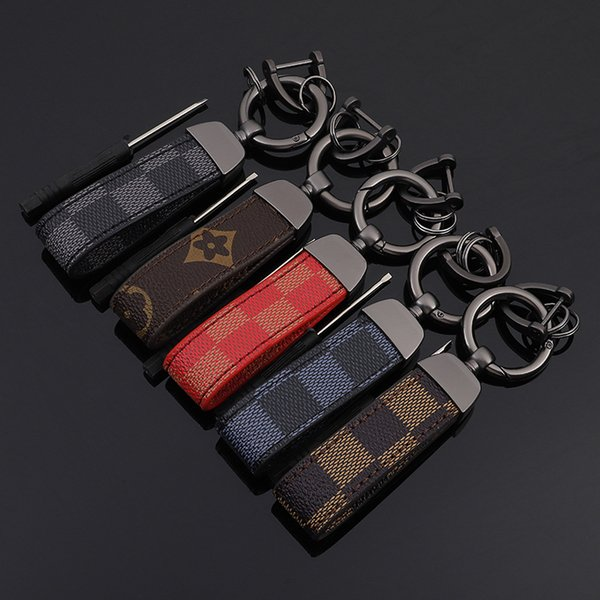 Leather Luxury Fashion Designer Key chains Metal Zinc BMW VW Audi Opel Volvo Keyrings High quality