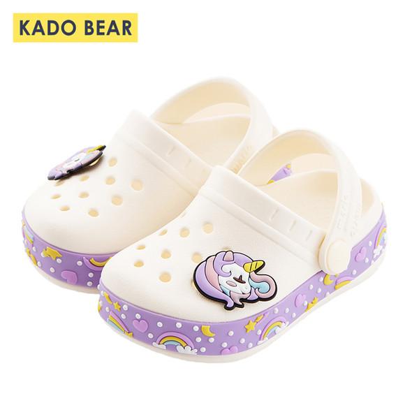 Baby Girl Cartoon Unicorn Toddler Beach Water Garden Slippers Kids Boy Cave Shoes Children Summer Flip Flops Indoor Cute Sandals Y19051504