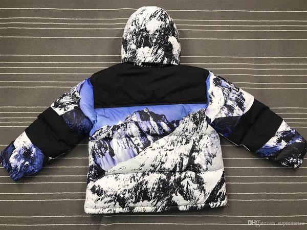 Marca 17FW Piumini montagna Baltoro antivento spessa tuta sportiva di autunno Inverno Mountain View Parka cappotto di inverno