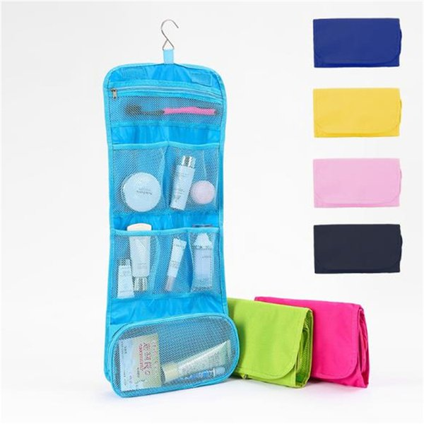 Best selling new fashion travel Storage Bags waterproof wash handbag Organizer Oxford cloth white collar cosmetic bag T7D5025