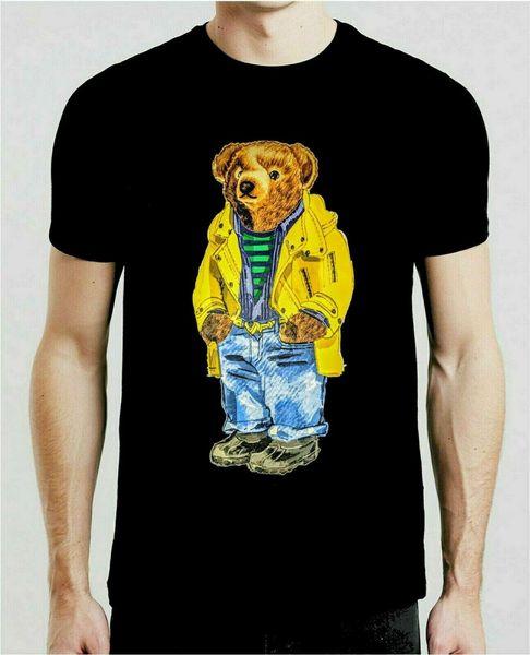 Vintage T-Shirt 90's Polo Bear Chemise Blanche Cadeau dropshipping Drôle livraison gratuite Unisexe Casual Tshirt