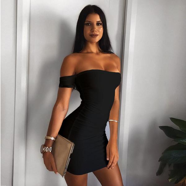 Neue Ankunft Womens Sexy Aushöhlen Kleider Einfarbig Frauen Tube Top Kleid Kurze Röcke Sexy Frauen Party Streetwear Kleider Größe S-L