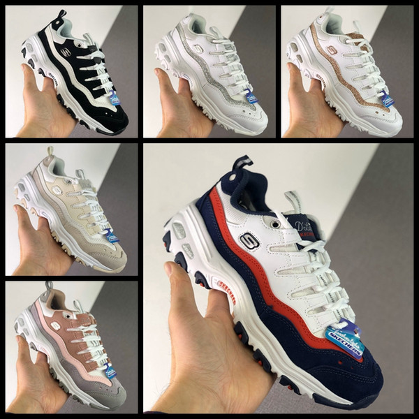 Fashion Skechers 1.5 Designers Sports Low Old Dad Womens Girls Shoes Black Pink White Trainers Sports Sneakers Athletic schuhe Zapatos