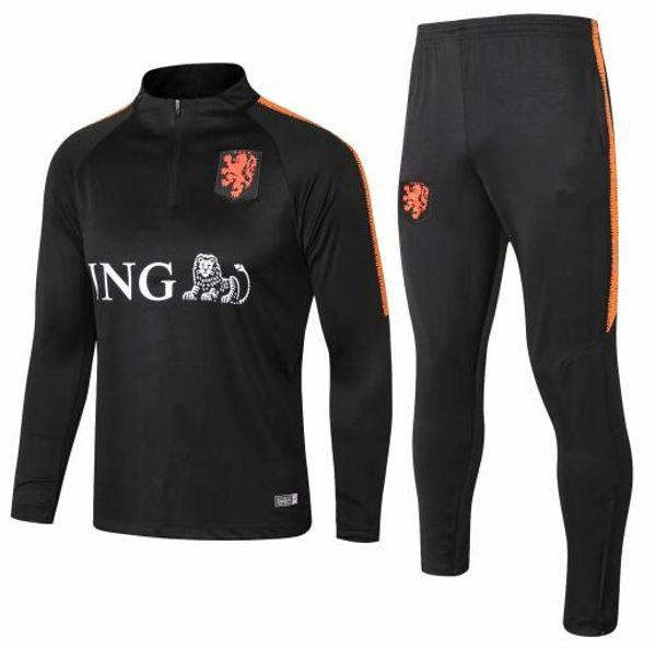 best selling 2018 Netherlands soccer Jacket Tracksuit 18 19 chandal Netherlands training suits ROBBEN MEMPHIS PERSIE Soccer Jersey training sports wear