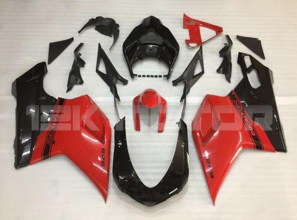 Инъекции Плесень Новый ABS мотоцикл обтекатели, пригодный для DUCATI 848 1098 1198 07 08 09 10 11 2007-2011 Высококачественный комплект обтекателя кузова Красный Черный