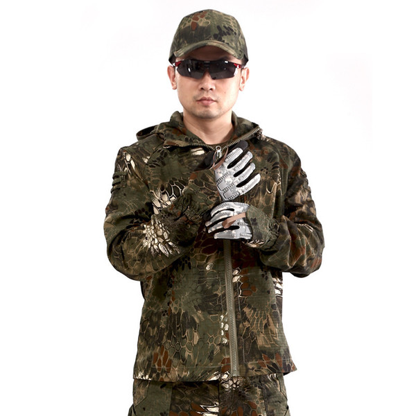 top popular Sell Well Outdoors Rattlesnake Python Camouflage The Special Arms Work Battle Dress 3 Color Male Jacket Single Paper Men 2021