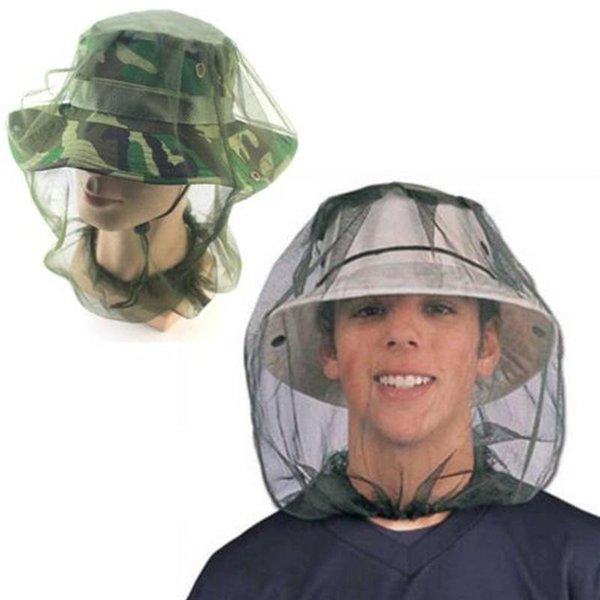 Anti Mosquito Insect Hat Fishing Bug Mesh Head Net Face Protector Cap Head Cover Fisherman Hat Beekeeping Camping Mask