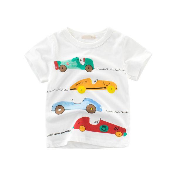 2019 Summer Boys T-shirt trend Cotton Children Baby Sports Short Half Sleeve BOY T Shirt Printed Cartoon car Tops Kids clothes