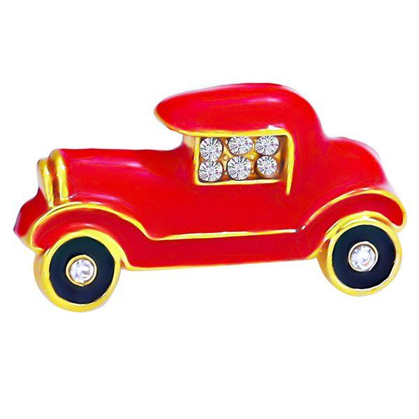 Women Men Rhinestone Gifts Jewelry Accessories Alloy Cute Craft Decorative Car Shape Cartoon Party Fashion Brooch Pin