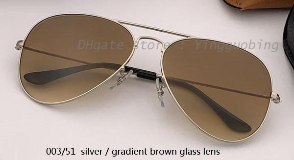 003/51 серебристый / градиентный коричневый