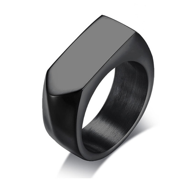 Vintage Style Mens Stainless Steel Biker Arrow Rings Customized Wedding Band Engravable Anniversary Gift