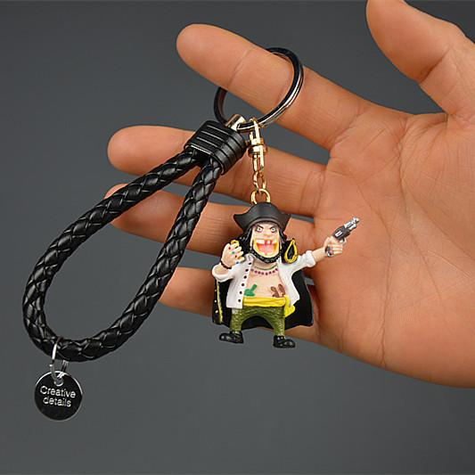 IVYYE 1PCS One Piece Edward Anime Action Figure Key Chain PVC Figures Keyring Toys Keychain Keyholder Unisex Birthday Gifts NEW