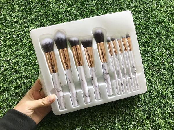 2019 neue HEISSE 10 teile / satz ELF Make-Up Pinsel Set Gesichtscreme Power Foundation Pinsel Mehrzweck Schönheit Kosmetische Werkzeug Pinsel Set mit box