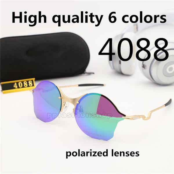 Talend série logo óculos casuais 4088 reflexivo filme colorido óculos de sol cinza 56 milímetros quadro óculos polarizados lente com caixa original