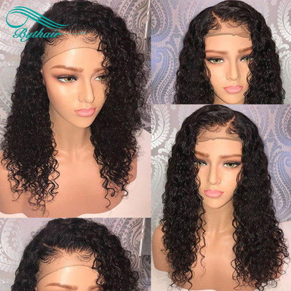 Hot Selling Curly Lace Front Human Hair Wigs Pre Plucked Hairline Brazilian Virgin Human Hair Full Lace Wig With Baby Hairs Bythair