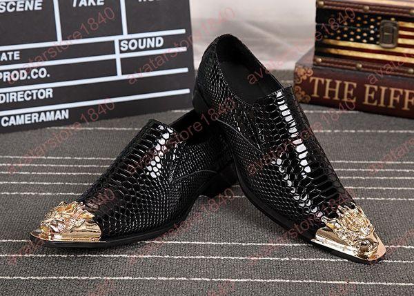 Neue männer Luxus Metall Lackleder Kleid Schuhe Männer Hochzeit Schuhe Mann Mode Trend Casual Party Schuhe