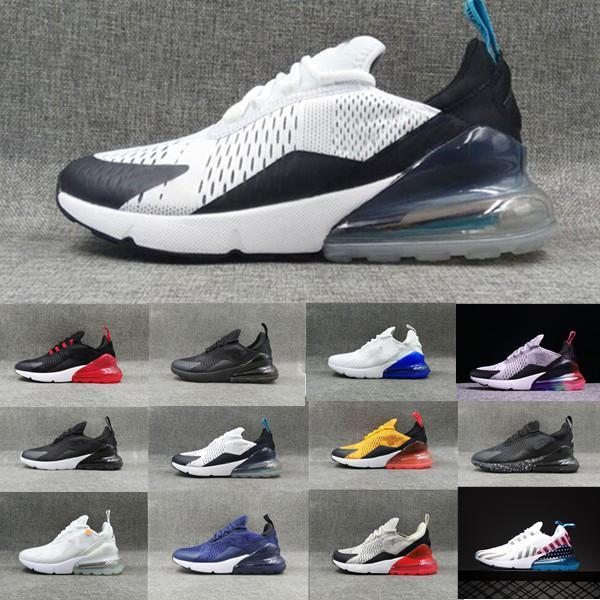 Nike air max 270 zapatos para correr Hombres Mujeres Trainer ser verdad caliente ponche Triple Negro Blanco Oreo Teal Foto de deportes azul zapatillas de deporte Tamaño 5,5-11