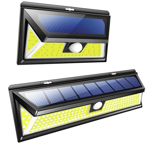 76/180COB Solar Wall Lamp Waterproof Wide Angle Outdoor Garden Yard Garage Emergency Security Lighting Wall solar lights ZZA443