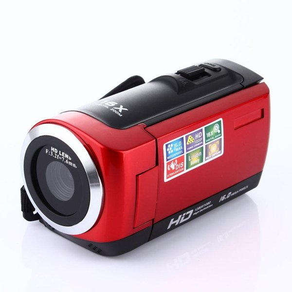 1080P Full HD 16MP Digital Video Camcorder SD/SDHC Card(max 32GB ) 16X Camera with Rotating HDC6A LCD Screen