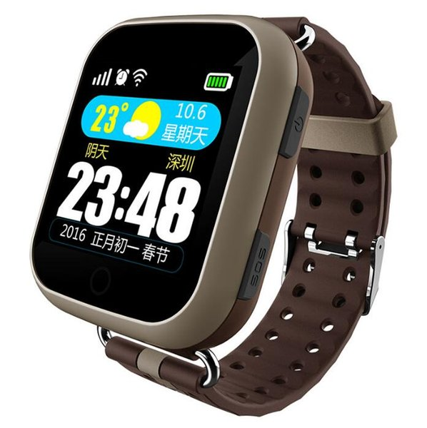 Commercio all'ingrosso T400 Elderly Smart Watch GPS AGPS LBS Posizionamento Touch Screen Monitor della frequenza cardiaca SOS Localizzatore Tracker Senior Medical promemoria