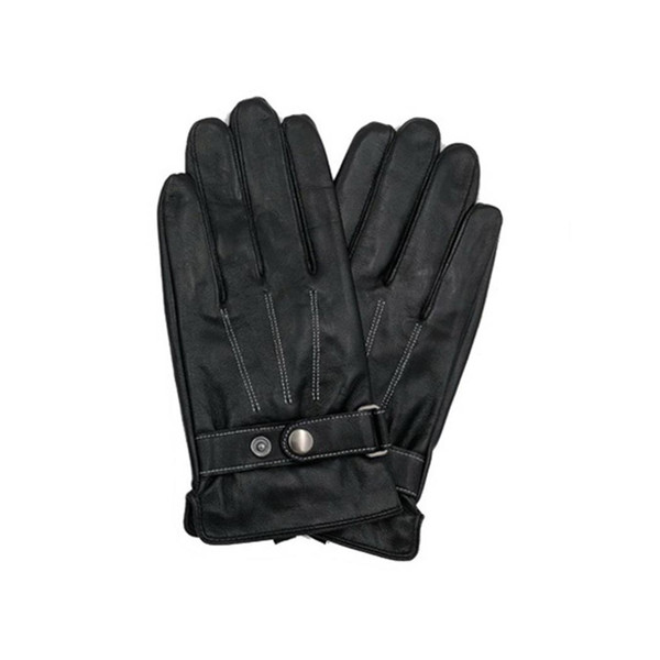 Men Fashion Winter Touch Screen Warm Gloves Synthetic Warm, Adjustable, Leather Full Thread Finger Gloves