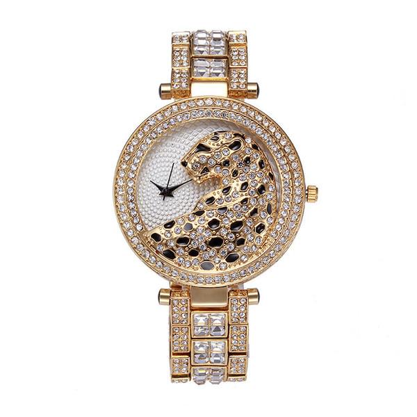 luxury designer jewelry women diamond leopard watch Gold Bracelet Wristwatches Luxury watch nice casual new female clock