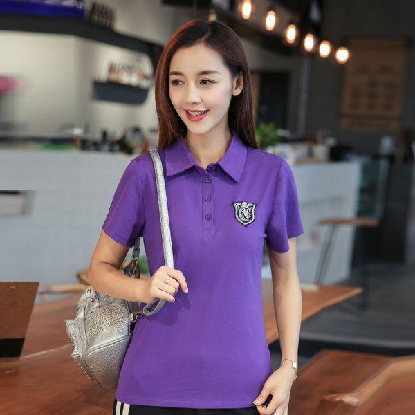 10pcs/lot Summer Shirt Women Short Sleeve Solid Slim Shirts Tops Fashion Cotton Femme Plus Size 6 Colors